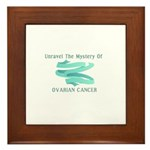 SUPPORT OVARIAN CANCER AWARENESS Framed Tile