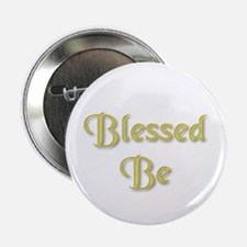 Blessed Be Gold Button