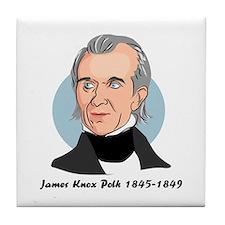 James Knox Polk Tile Coaster