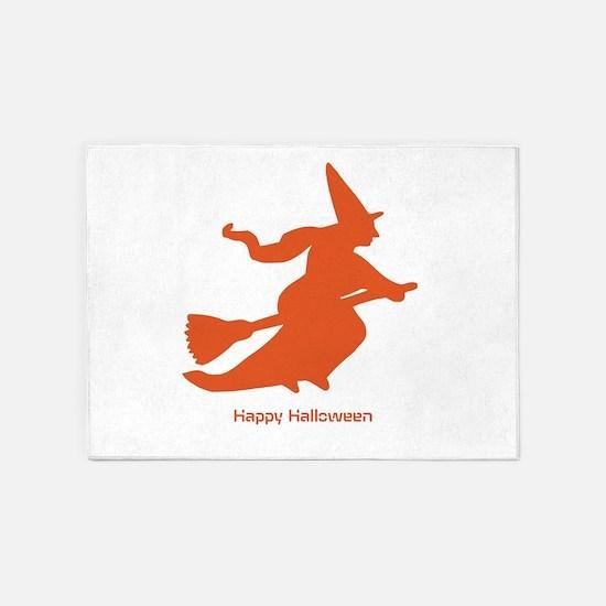Happy Halloween-FREE TEXT 5'x7'Area Rug