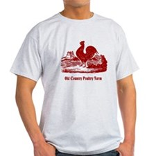 Red Rooster Country Farm Customizable T-Shirt