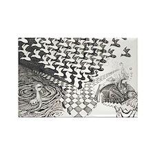 Cute Tessellation Rectangle Magnet