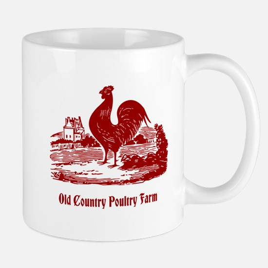 Red Rooster Country Farm Customizable Mugs