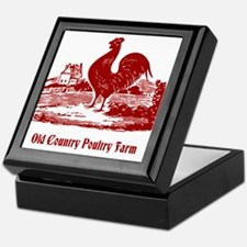Red Rooster Country Farm Customizable Keepsake Box