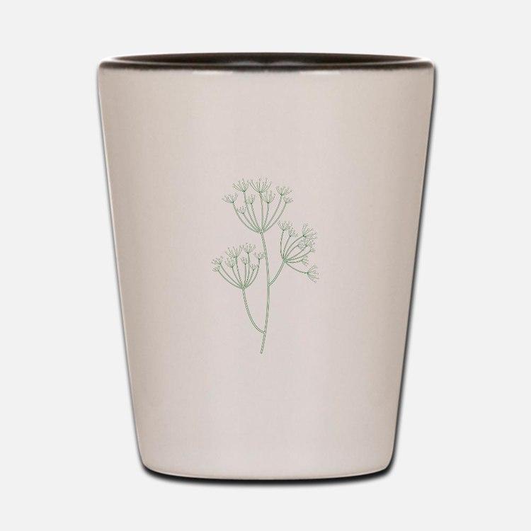Dill Herb Plant Shot Glass