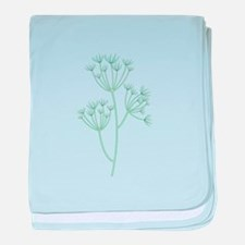 Dill Herb Plant baby blanket