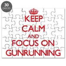 Funny Keep calm and carry on gun Puzzle