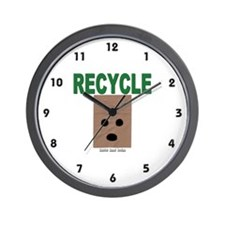 Recycle Paper Bags Wall Clock