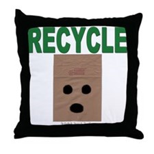 Recycle Paper Bags Throw Pillow