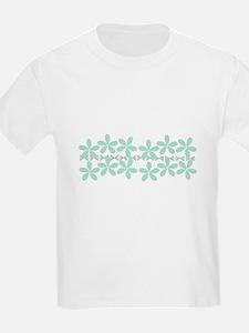 Pastel Floral Mint Green Gardener Florist T-Shirt