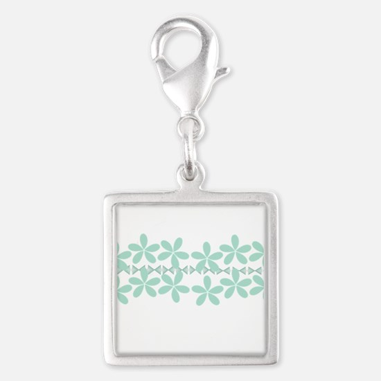 Pastel Floral Mint Green Gardener Florist Charms