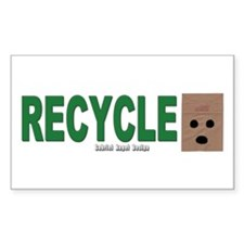 Recycle Paper Bags Rectangle Decal