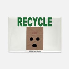 Recycle Paper Bags Rectangle Magnet