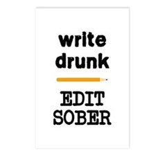 Write Drunk Edit Sober Postcards (Package of 8)