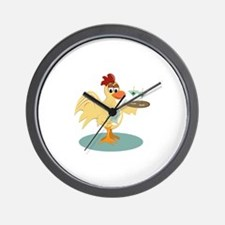 Martini Rooster Wall Clock