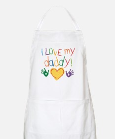 i love my daddy BBQ Apron