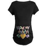 I love my daddy Maternity T-shirts (Dark)