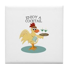 Enjoy A Cocktail Tile Coaster