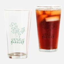 Perky Parsley Drinking Glass