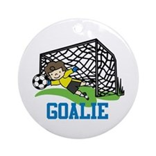 Goalie Ornament (Round)