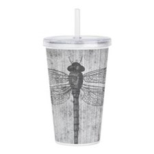 Vintage dragonfly Acrylic Double-wall Tumbler