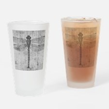 Vintage dragonfly Drinking Glass