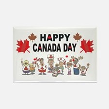 Happy Canada Day Rectangle Magnet