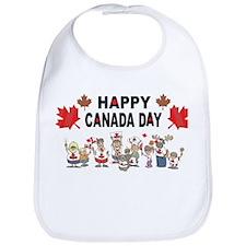 Happy Canada Day Bib