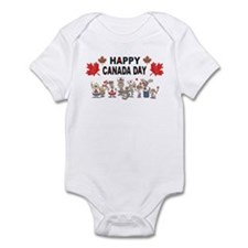 Happy Canada Day Infant Bodysuit