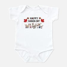 Happy Canada Day Infant Bodysuit