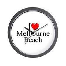 """I Love Melbourne Beach"" Wall Clock"