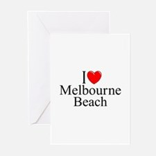 """I Love Melbourne Beach"" Greeting Cards (Package o"