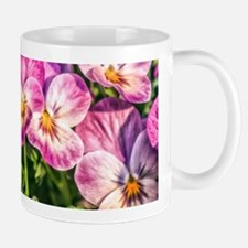 Pink Pansies Mugs