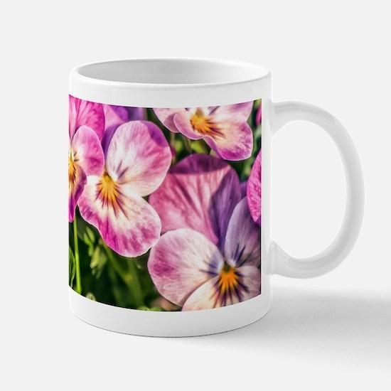 Pink Pansies Mugs