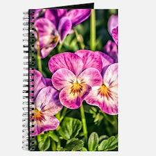 Pink Pansies Journal