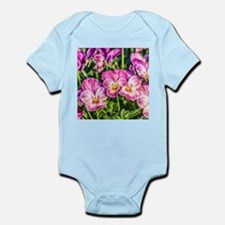 Pink Pansies Infant Bodysuit