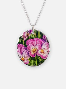 Pink Pansies Necklace