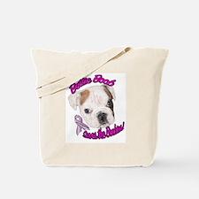 Bettie BoobTSaves the Boobies Tote Bag