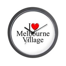 """I Love Melbourne Village"" Wall Clock"