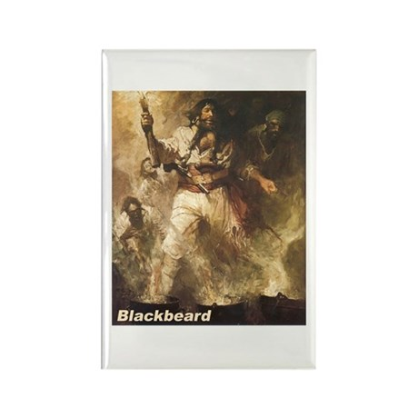 Blackbeard the Pirate Rectangle Magnet (10 pack)