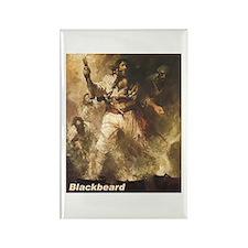 Blackbeard the Pirate Rectangle Magnet