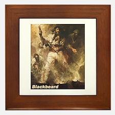 Blackbeard the Pirate Framed Tile
