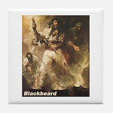 Blackbeard the Pirate Tile Coaster