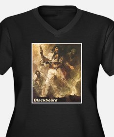 Blackbeard the Pirate (Front) Women's Plus Size V-