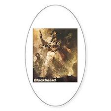 Blackbeard the Pirate Oval Decal