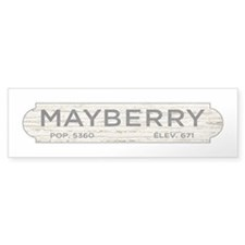 Mayberry Sign Andy Griffith Bumper Bumper Sticker