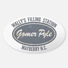 Gomer Pyle Wally's Filling Station Decal