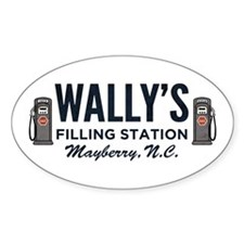Wally's Filling Station Mayberry Decal