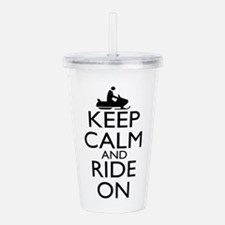 Keep Calm and Ride On Acrylic Double-wall Tumbler
