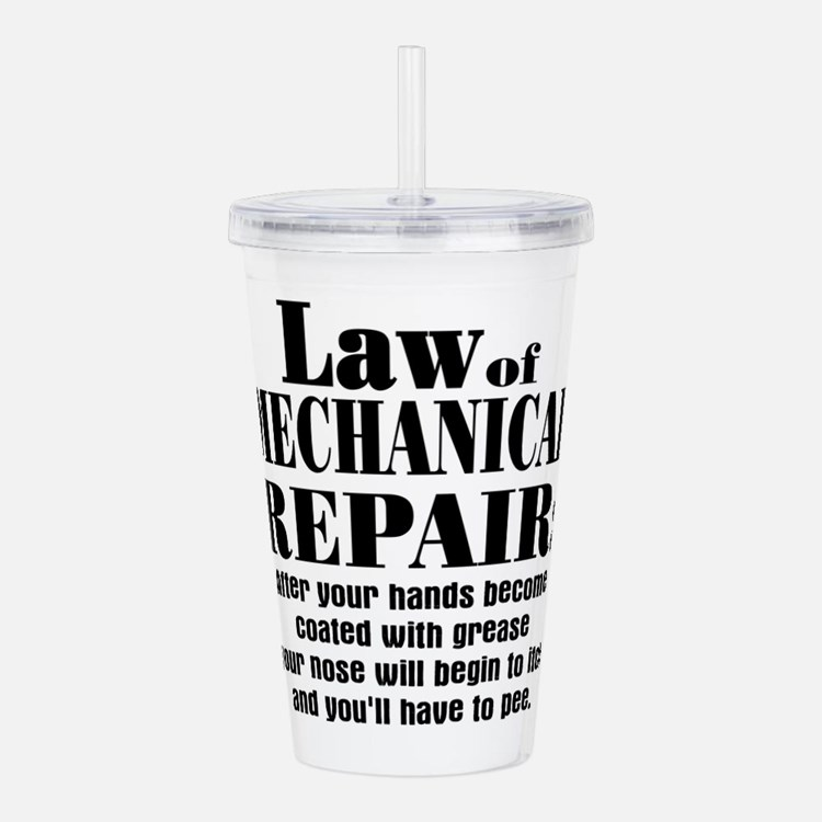 mechanical repair2.png Acrylic Double-wall Tumbler